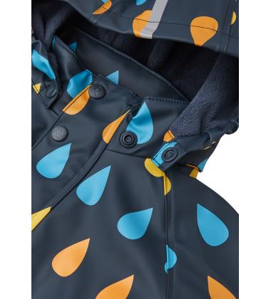 Reima lietaus striukė su fliso pašiltinimu Koski. Spalva tamsi mėlyna