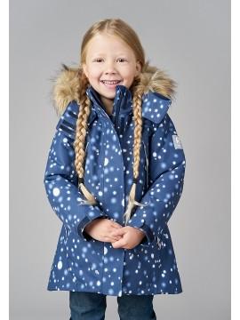 Reimatec® žiemos striukė SILDA. Spalva tamsiai mėlyna su baltais taškeliais - užsakoma prekė