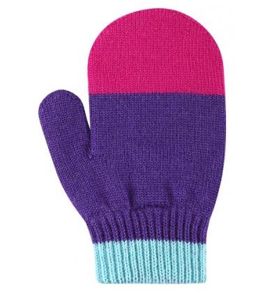 Reima kumštinės pirštinės STIG. Spalva violetinė su rožine