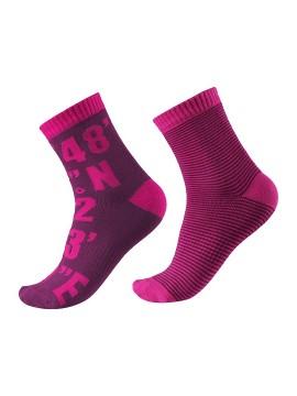 Reima kojinės KLOPPI. Spalva tamsiai rožinė