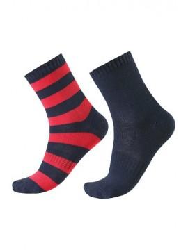 Reima kojinės vaikams Columbo. Spalva tamsiai mėlyna / raudona