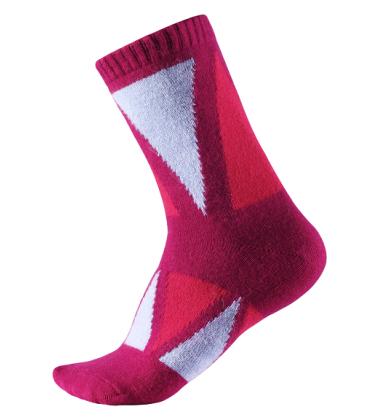 Reima vilnonės kojinės Savo. Spalva rožinė / žydra