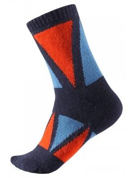 Reima vilnonės kojinės Savo. Spalva mėlyna / raudona