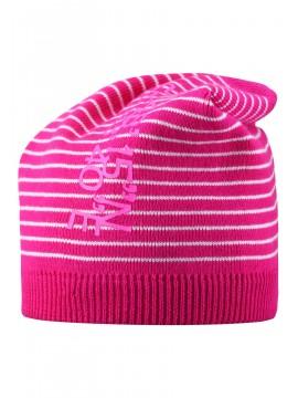 Reima pavasario kepurė SCORIA. Spalva ryškiai rožinė su dryžiukais