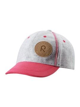 Reima kepurė su snapeliu PURJE. Spalva pilka / rožinė