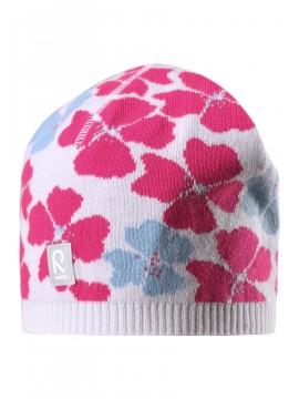 Reima pavasario kepurė Paradise. Spalva balta su rožinėmis gelytėmis