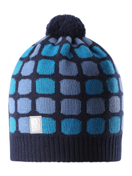 Reima žiemos kepurytė Kivikko. Spalva mėlyna su kvadratėliais