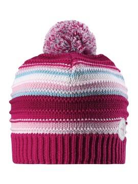 Reima žiemos kepurytė Hurmos. Spalva rožinė dryžuota