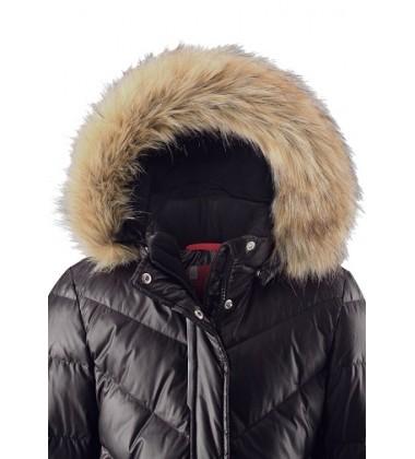 Reima pūkinis paltas Satu. Spalva juoda