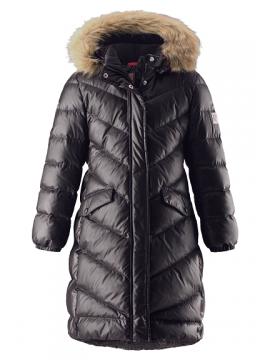 Reima pūkinis paltas Satu. Spalva juoda 2019
