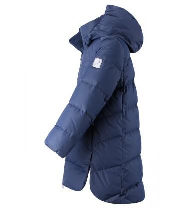 Reima pūkinė žiemos striukė AHDE. Spalva tamsiai mėlyna.