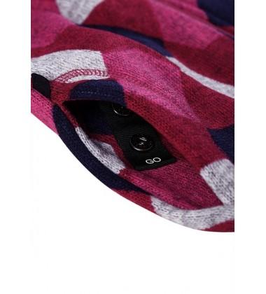 Reima flisinis švarkelis Northern. Spalva rožinė su spalvotais ornamentais