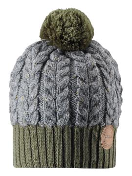 Reima kepurė Pohjola. Spalva žalia / pilka