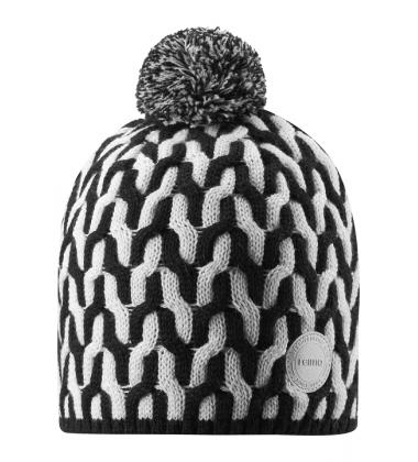 Reima kepurė Sneeuw. Spalva juoda/ balta