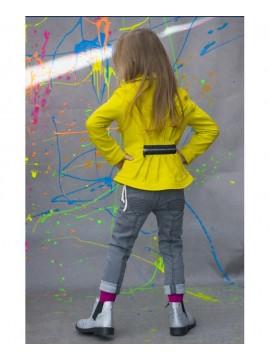 Monomy džinsai mergaitėms. Spalva pilka. Dydžiai 116-140 cm