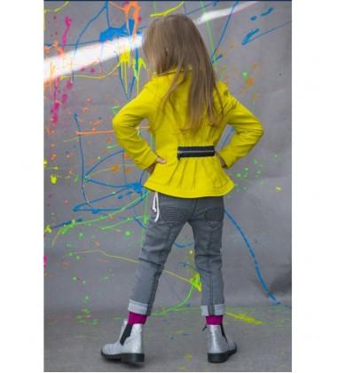 Monomy džinsai mergaitėms. Spalva pilka. Dydžiai 98-110 cm