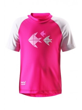 Reima marškinėliai AZORES. Spalva rožinė
