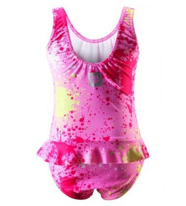 Reima maudymosi kostiumėlis CORFU. Spalva rožinė su printu
