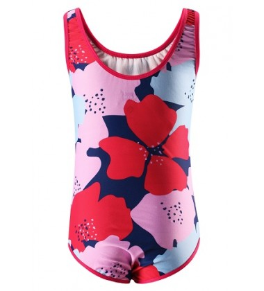 Reima maudymosi kostiumėlis SUMATRA. Spalva rožinė / raudona su gėlytėmis