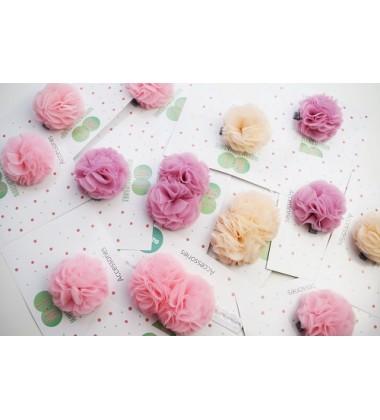 Manufaktura Falbanek segtukas su pomponu. Spalva sendinta rožė