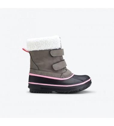 Viking žiemos batai ROGNE. Spalva šviesiai pilka / rožinė