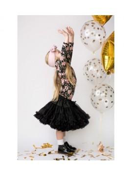 Manufaktura Falbanek tiulio sijonas. Spalva juoda