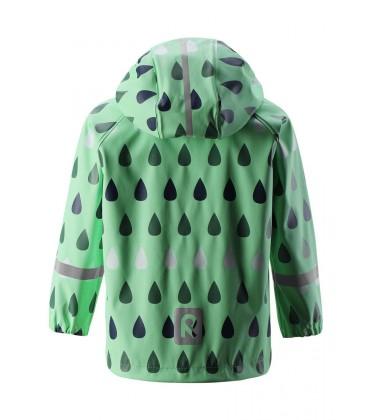 Reima lietaus striukė Vesi su printu. Spalva žalia