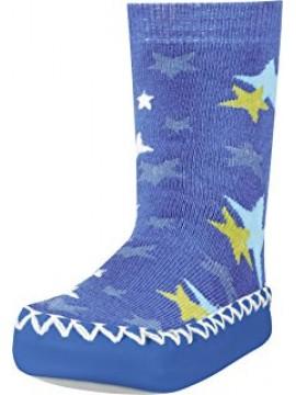 Playshoes kojinės su neslidžiu paduku. Spalva mėlyna su žvaigždutėmis