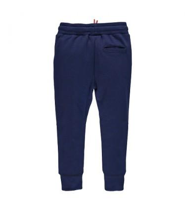 Brums vaikiškos sportinės - laisvalaikio kelnės. Spalva tamsiai mėlyna / baltas raištelis
