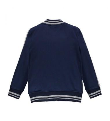 Brums vaikiškas trikotažinis džemperis. Spalva tamsiai mėlyna