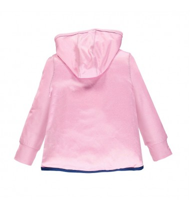 Brums laisvailaikio džemperiukas mergaitėms. Spalva rožinė