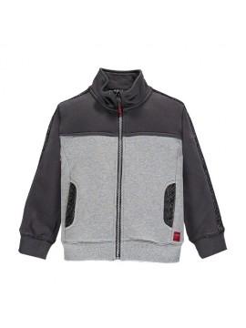 Brums vaikiškas trikotažinis džemperis. Spalva tamsiai pilka / šviesiai pilka