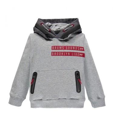 Brums vaikiškas trikotažinis džemperis. Spalva šviesiai pilkas / tamsiai pilkas