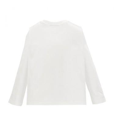 Brums vaikiški marškinėliai ilgomis rankovėmis. Spalva balta