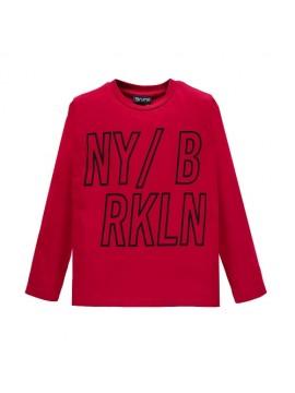 Brums vaikiški marškinėliai ilgomis rankovėmis. Spalva raudona