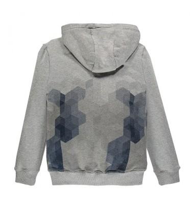 Brums vaikiškas trikotažinis džemperis. Spalva pilka su printu