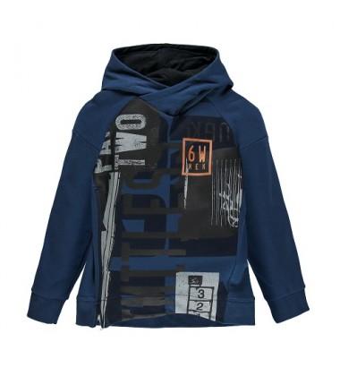 Brums vaikiškas trikotažinis džemperis. Spalva mėlyna