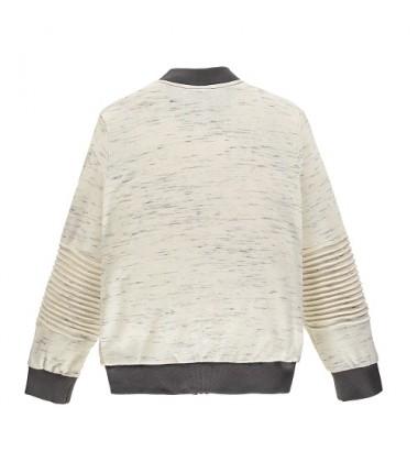 Brums vaikiškas trikotažinis džemperis. Spalva žalia / balta