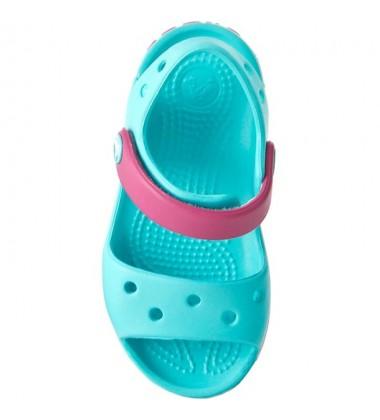 Crocs Crocband Sandal basutės. Spalva mėtinė / rožinė