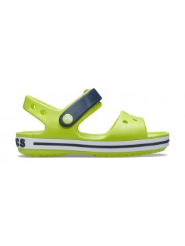 Crocs Crocband Sandal basutės. Spalva žalia citrina / juoda