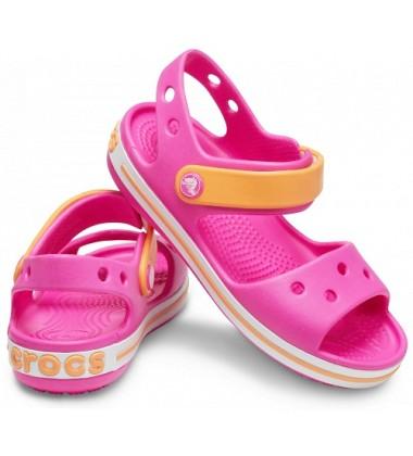 Crocs Crocband Sandal basutės. Spalva ryškiai rožinė / oranžinė