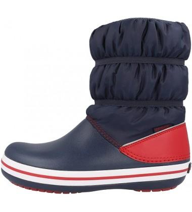 Crocs™ žieminiai batai Crocband Winter Boot Kid's. Spalva raudona / tamsiai mėlyna