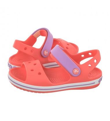 Crocs Crocband Sandal basutės. Spalva oranžinė / alyvinė