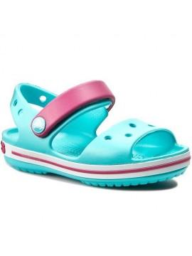 Crocs Crocband Sandal basutės. Spalva žydra / ryškiai rožinė