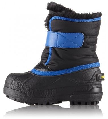 Sorel žiemos batai SNOW COMMANDER. Spalva juoda su mėlyna / geltona