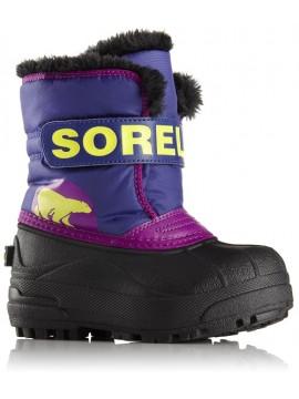 Sorel žiemos batai SNOW COMMANDER. Spalva juoda su violėtine / geltona