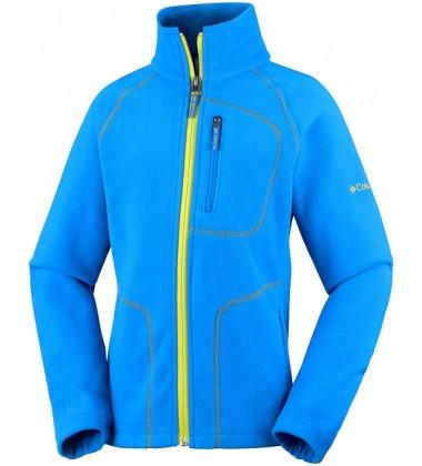 Columbia flisinis džemperis FAST TREK II. Spalva mėlyna su geltonu užtrauktuku