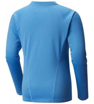 Columbia termo marškinėliai Midweight Crew. Spalva ryškiai mėlyna