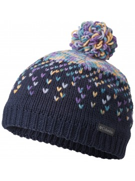 Columbia kepurė Siberian Sky. Spalva tamsiai mėlyna / violetinė / geltona