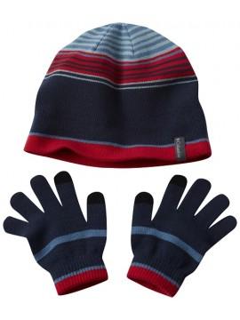 Columbia pirštinių ir kepurės komplektukas. Spalva mėlyna dryžuota